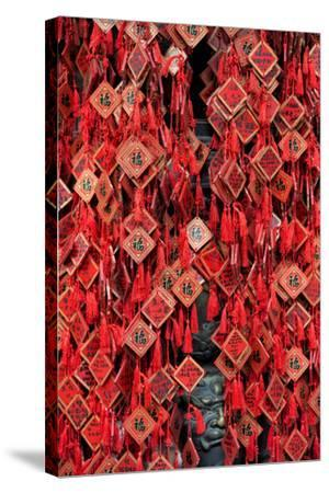 China 10MKm2 Collection - Prayer offering at a Temple-Philippe Hugonnard-Stretched Canvas Print