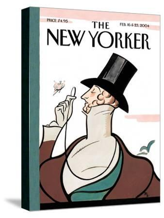 The New Yorker Cover - February 16, 2004-Rea Irvin-Stretched Canvas Print