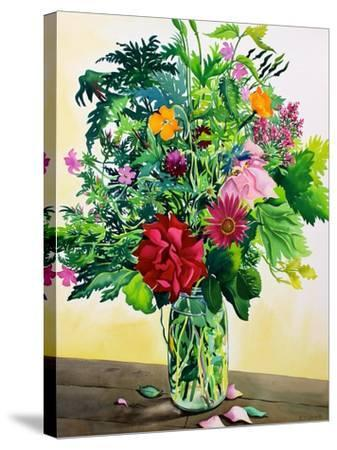 Garden Flowers-Christopher Ryland-Stretched Canvas Print