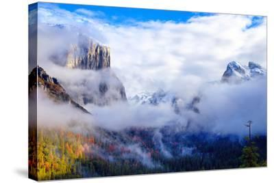 Dreamy Valley, Mist and Fog, El Capitan, Yosemite National Park-Vincent James-Stretched Canvas Print