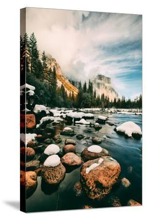 Clearing Storm at Valley View in January, Yosemite Valley, California-Vincent James-Stretched Canvas Print