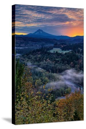 Just Before Sunrise from Jonsrud View, Sandy Oregon, Portland-Vincent James-Stretched Canvas Print