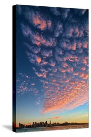 Magical Clouds Over San Francisco - City and Cloud Design, California-Vincent James-Stretched Canvas Print