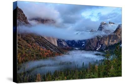 Magical Dreamy Fog at Tunnel View - Yosemite National Park-Vincent James-Stretched Canvas Print