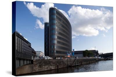 Urban City Scene in Berlin, Germany-Felipe Rodriguez-Stretched Canvas Print