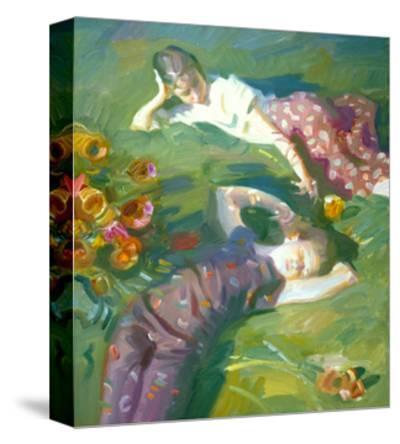 Asaro Girls-John Asaro-Stretched Canvas Print