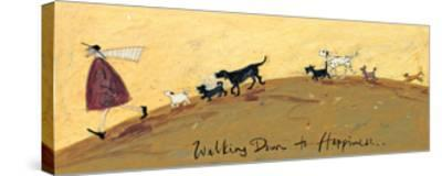 Walking Down To Happiness-Sam Toft-Stretched Canvas Print