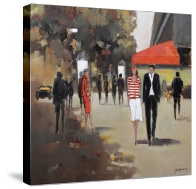 Caf» De La Paix - Paris-Jon Barker-Stretched Canvas Print
