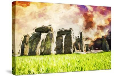 Stonehenge II - In the Style of Oil Painting-Philippe Hugonnard-Stretched Canvas Print