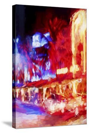 Red Boulevard II - In the Style of Oil Painting-Philippe Hugonnard-Stretched Canvas Print
