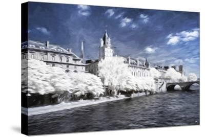 Paris Architecture - In the Style of Oil Painting-Philippe Hugonnard-Stretched Canvas Print