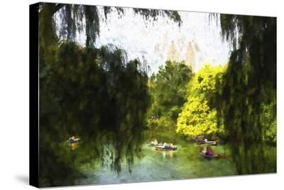 Relaxing at Central Park-Philippe Hugonnard-Stretched Canvas Print