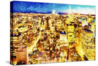 NYC Nightscape II - In the Style of Oil Painting-Philippe Hugonnard-Stretched Canvas Print
