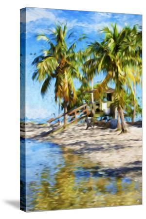 Life Guard Station V - In the Style of Oil Painting-Philippe Hugonnard-Stretched Canvas Print