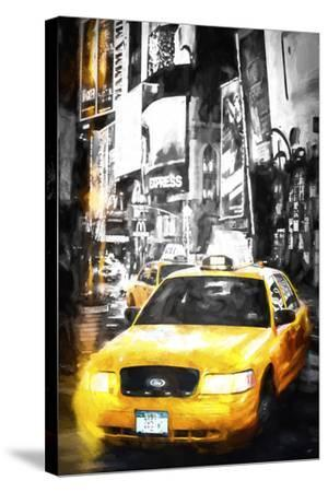 Yellow Taxi-Philippe Hugonnard-Stretched Canvas Print