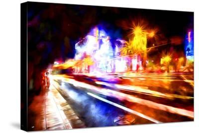 Traffic Light - In the Style of Oil Painting-Philippe Hugonnard-Stretched Canvas Print