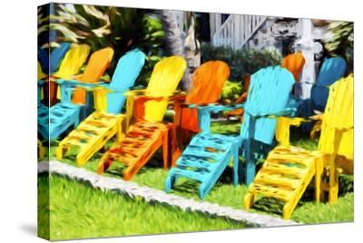 Relaxing - In the Style of Oil Painting-Philippe Hugonnard-Stretched Canvas Print