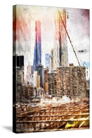 Towers - In the Style of Oil Painting-Philippe Hugonnard-Stretched Canvas Print
