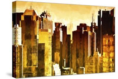 Golden Buildings-Philippe Hugonnard-Stretched Canvas Print