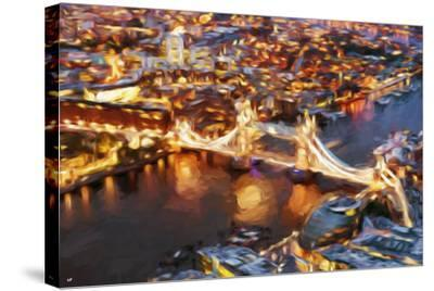 London Cityscape IV - In the Style of Oil Painting-Philippe Hugonnard-Stretched Canvas Print