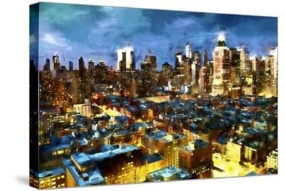 NY Blue Night-Philippe Hugonnard-Stretched Canvas Print