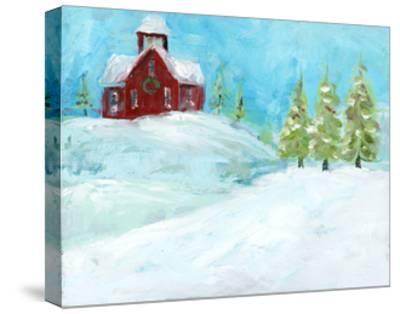 Christmas Meadows-Pamela J. Wingard-Stretched Canvas Print
