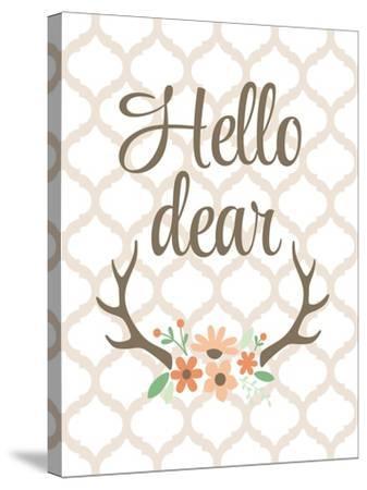 Hello Deer-Tamara Robinson-Stretched Canvas Print