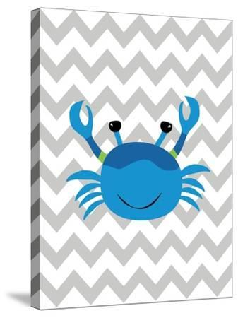 Chevron Crab-Tamara Robinson-Stretched Canvas Print