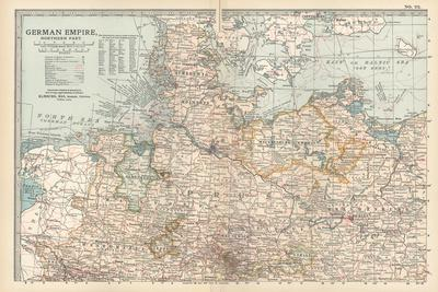 Plate 22. Map of the German Empire-Encyclopaedia Britannica-Stretched Canvas Print