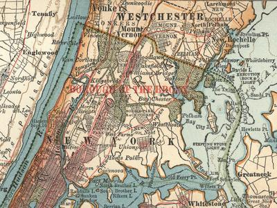 The Bronx (C. 1900)-Encyclopaedia Britannica-Stretched Canvas Print
