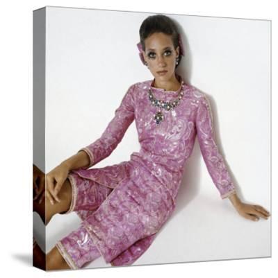 Vogue - January 1969-Gianni Penati-Stretched Canvas Print