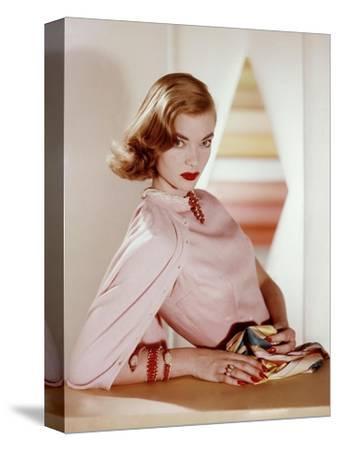Vogue - April 1955-Horst P. Horst-Stretched Canvas Print