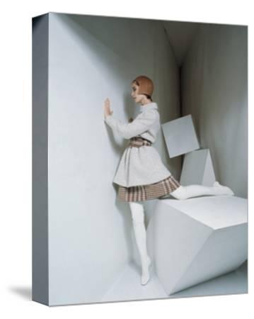 Mademoiselle - September 1967-David Mccabe-Stretched Canvas Print