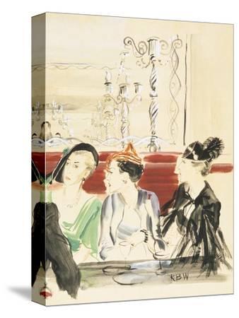 Vogue - September 1934-Ren? Bou?t-Willaumez-Stretched Canvas Print