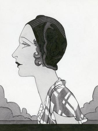 Vogue - March 1931-Douglas Pollard-Stretched Canvas Print