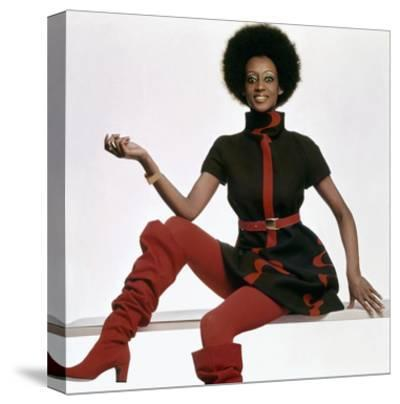 Vogue - November 1969 - Bill Blass Turtleneck Dress-Gianni Penati-Stretched Canvas Print