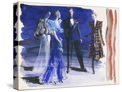 Vogue - June 1936-Ren? Bou?t-Willaumez-Stretched Canvas Print