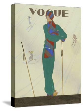 Vogue - December 1928-Pierre Pag?s-Stretched Canvas Print