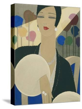 Vogue - March 1928-Harriet Meserole-Stretched Canvas Print