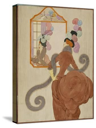 Vogue - December 1920-Helen Dryden-Stretched Canvas Print