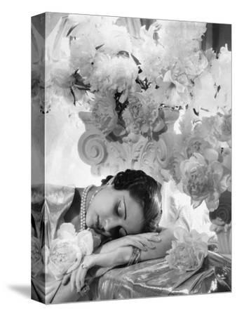 Vogue - July 1935 - Princess Karam of Kapurthala-Cecil Beaton-Stretched Canvas Print