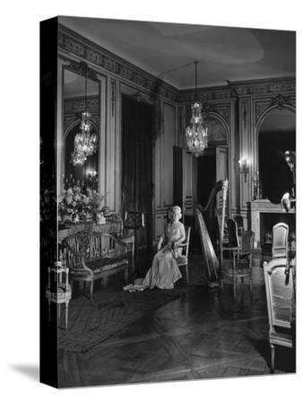 Vogue - November 1941 - Grace Wilson Vanderbilt-Cecil Beaton-Stretched Canvas Print