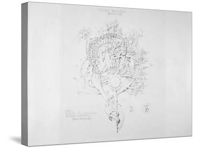 System of Architectural Ornament: Plate 10, Fluent Parallelism (Non-Euclidean), 1922-23-Louis Sullivan-Stretched Canvas Print