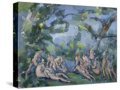 The Bathers, 1899-1904-Paul Cezanne-Stretched Canvas Print