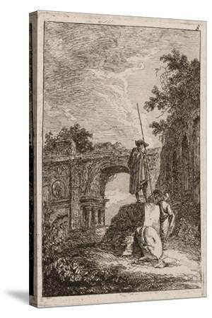 Plate Eight from Evenings in Rome, 1763-64-Hubert Robert-Stretched Canvas Print