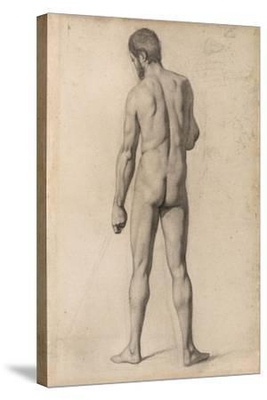 Academic Nude, Seen from the Back, 1862-Paul Cezanne-Stretched Canvas Print