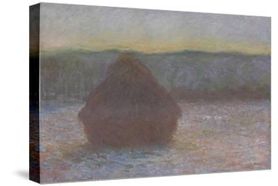 Stack of Wheat (Thaw, Sunset), 1890-91-Claude Monet-Stretched Canvas Print
