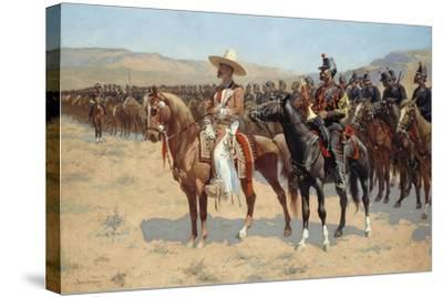The Mexican Major, 1889-Frederic Remington-Stretched Canvas Print