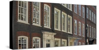 Georgian Terrace Facades, Spitalfields, London-Richard Bryant-Stretched Canvas Print