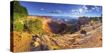 Usa, Utah, Canyonlands National Park, Island in the Sky District, Buck Canyon Overlook-Alan Copson-Stretched Canvas Print